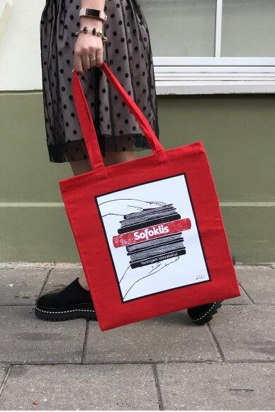 Medžiaginis maišelis, raudonas